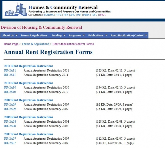 DHCR Annual Rent Registration